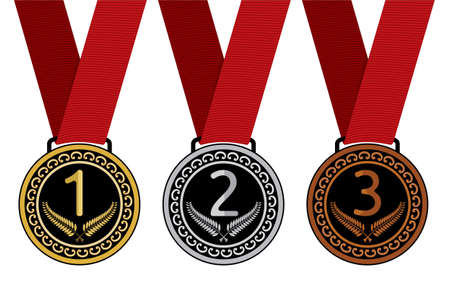 Set of medal illustration Stock Vector - 18494379