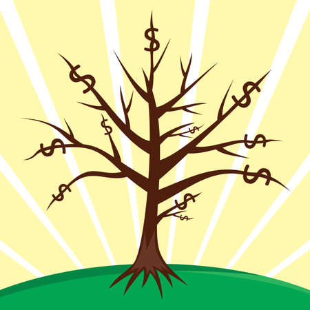 Money tree Stock Vector - 18494371