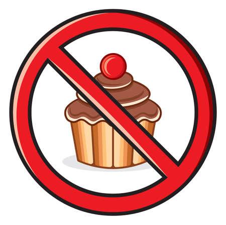 compulsory: No food sign Illustration
