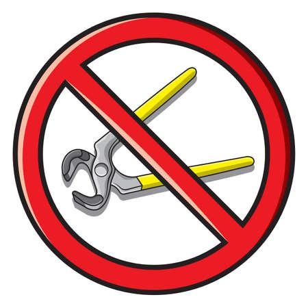 No repair sign Stock Vector - 18464613