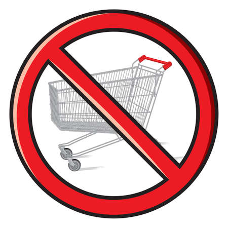 checkout line: no shopping carts allowed