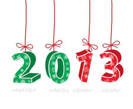 2013 year sign Stock Vector - 18464654