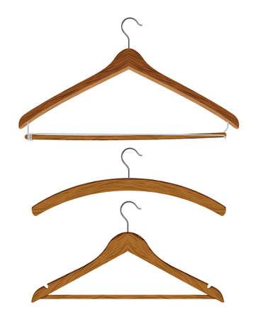 coat rack: wooden clothes hanger set