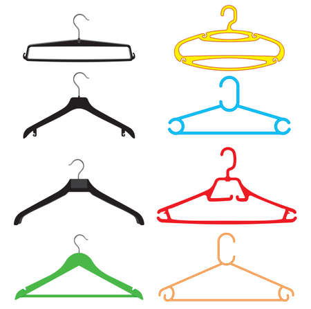 clothes hanger set Stock Vector - 18502253