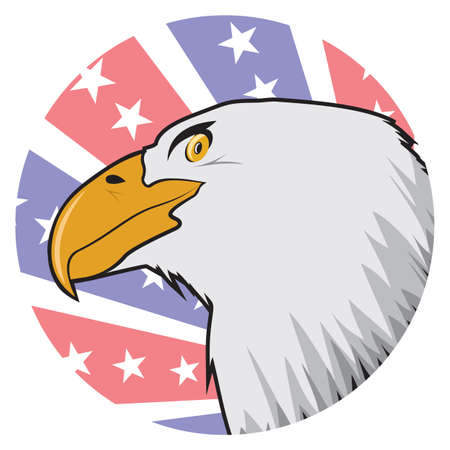 American bald eagle label Vector