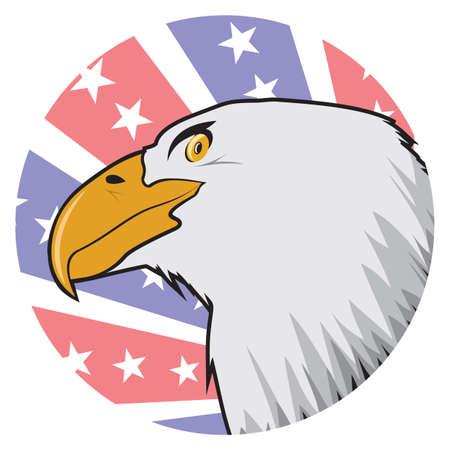 American bald eagle label Vector