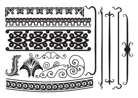 scroll border: Vintage elements and borders set for ornate and decoration