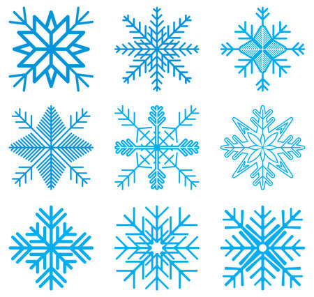 Nine original vector snow-flakes Stock Vector - 18523345