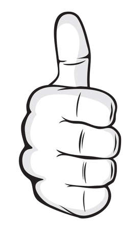 hand showing thumbs up: Hand showing thumbs up
