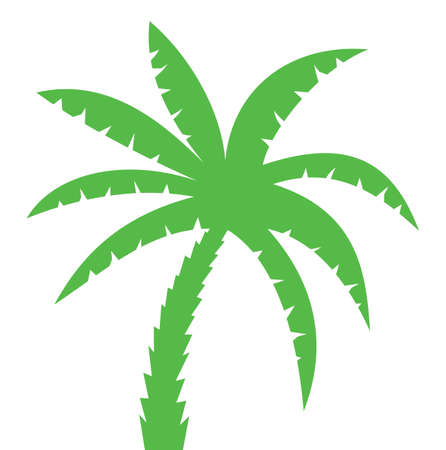 palm tree isolated: Palm Three Silhouette