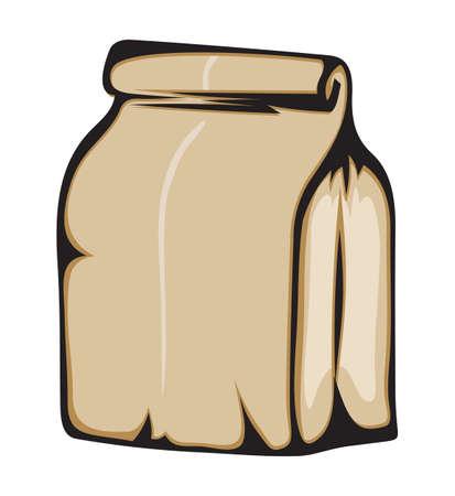 school bag: Bolsa de papel
