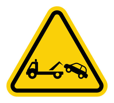 Traffic sign - no parking, tow away zone sign Vector