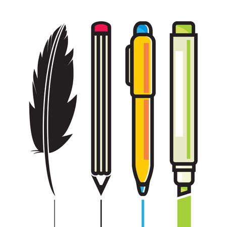 marker pen: Set of Writing Utensils