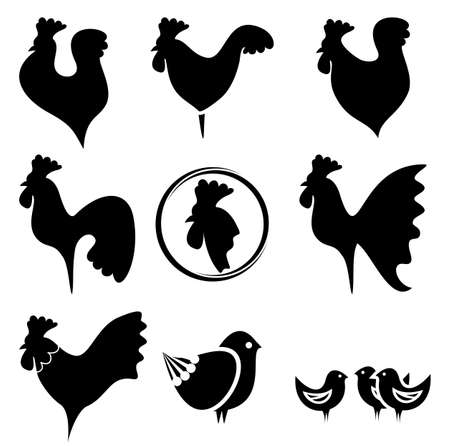 roosters collection Vector