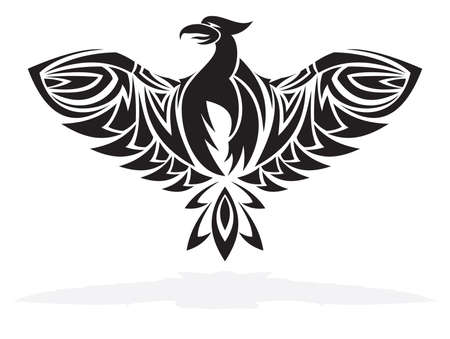 Phoenix bird  illustration Vector