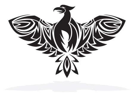 fenice: Phoenix uccello illustrazione