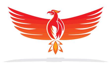 Illustration of rising phoenix against red dark background as voltagebd Choice Image