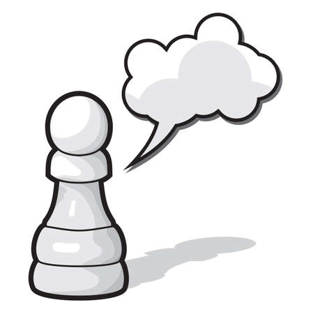 Chess pawn with cloud speach Stock Vector - 18734094