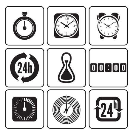 clock face: Clocks, time icons set