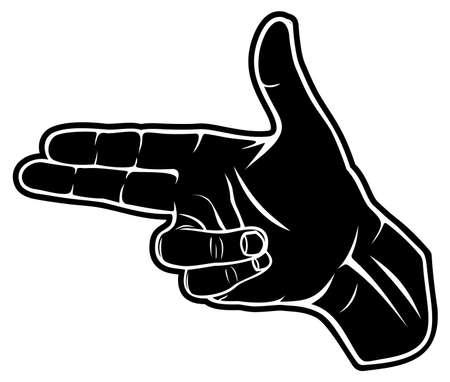 puntig: Een hand maken van een vorm van een puntige handpistool