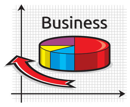 Business pie graph Stock Vector - 18494398