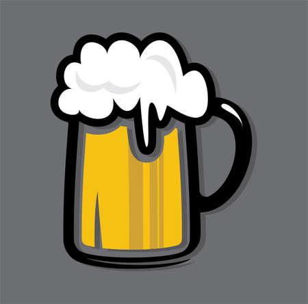 cerveza: icono de la cerveza taza Vectores