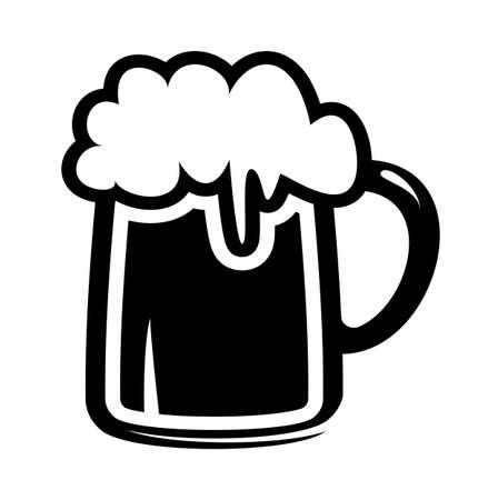 beer mug icon Illustration