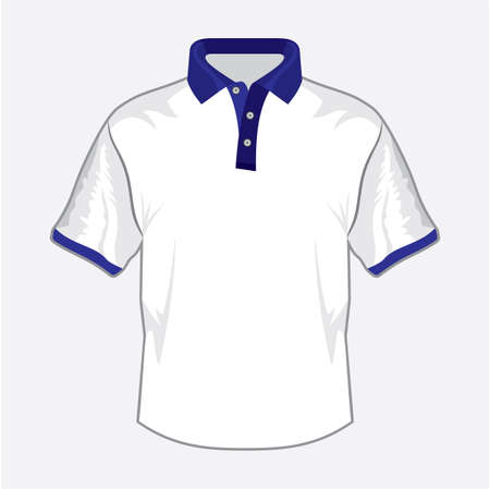 Blue polo shirt design with bluecollar Stock Vector - 18734098