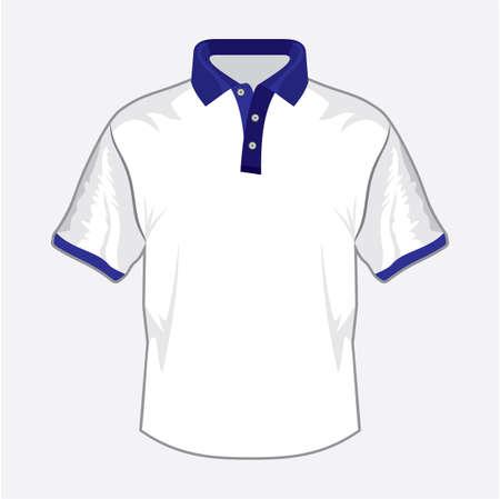 Blue polo shirt design with bluecollar Stock Vector - 18734098