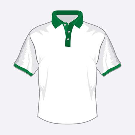 teen golf: Azul polo shirt de diseño con cuello verde