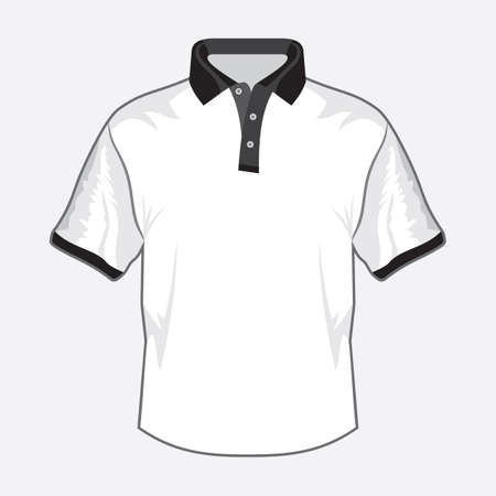 White polo shirt design with black collar Stock Vector - 18734097