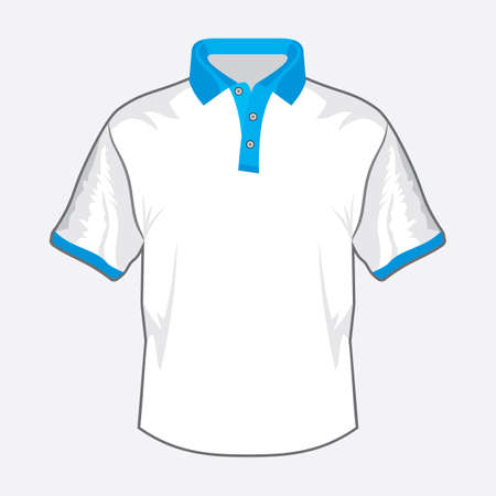 Blue polo shirt design with green collar Stock Vector - 18502299