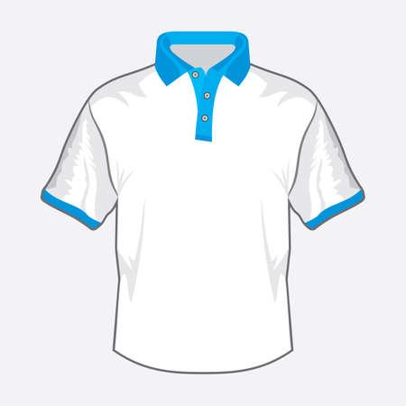 Blue polo shirt design with green collar Stock Vector - 18502299
