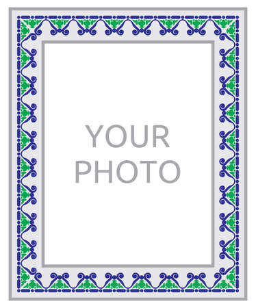 typical: Portugal design frame isolated on white background