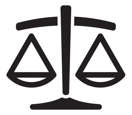 balanza en equilibrio: Justicia escala Vectores