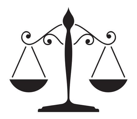 attorney scale: Justice scale Illustration