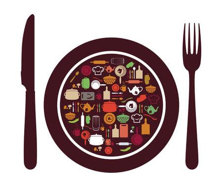 the land of menu: Restaurant Icon