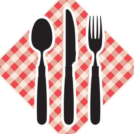 place setting: knife, fork and spoon