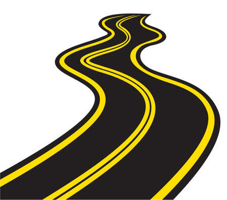 road marking: Winding trace road