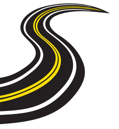 tarmac: Winding trace road