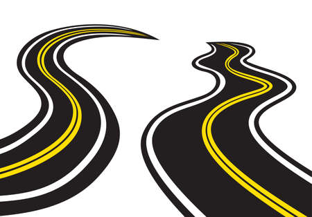 Winding trace road Vector