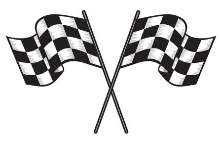 checker: two crossed checkered flags
