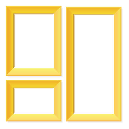 golden frames: Blank golden frames
