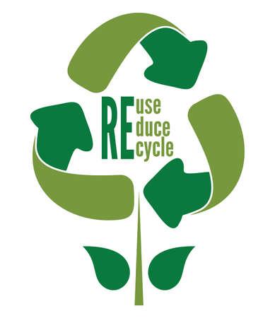 reciclar: Recicl o  Ilustração
