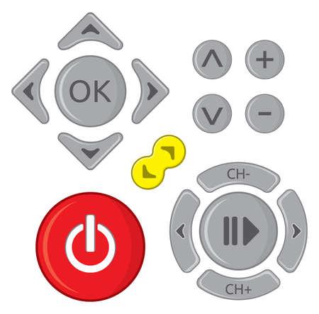 remote communication: Remote control set Illustration