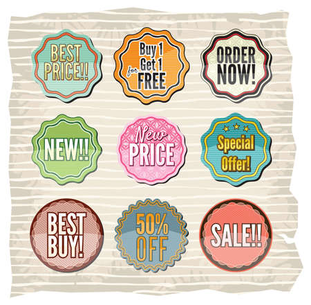 Set of retro badges and stickers Stock Vector - 18733958