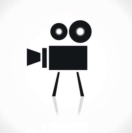 movie camera icon Stock Vector - 18502288