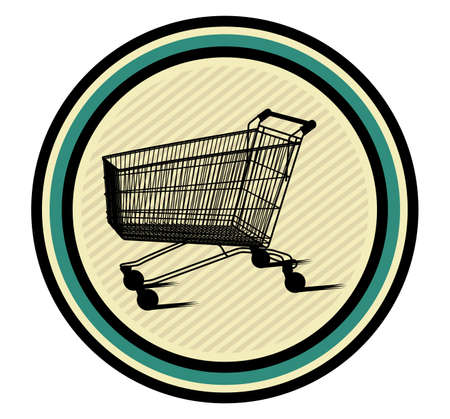 shopping cart icon Stock Vector - 18502282