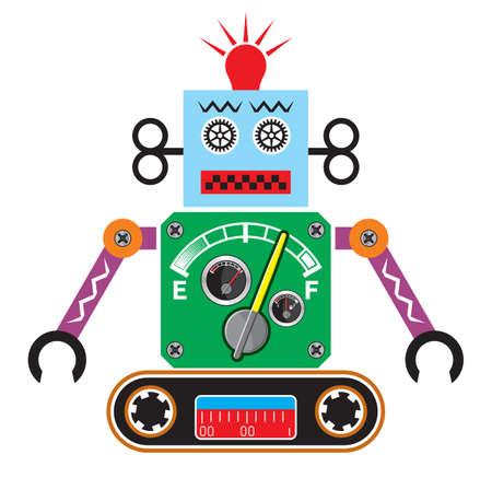 robot arm: Retro robot Illustration