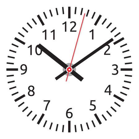 time clock: clock